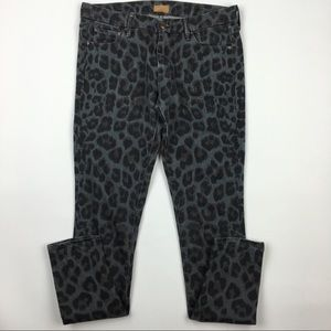 MOTHER The Looker animal print jean Sz 28